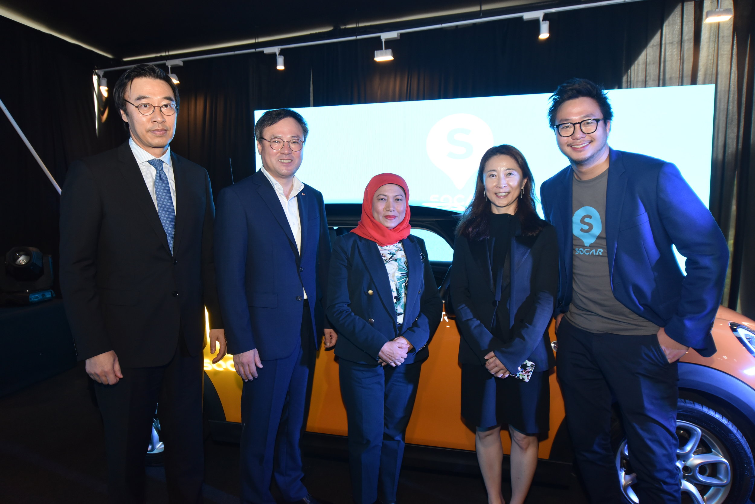 H.E.Dr Yu Hyun-Seok,Ambassador of the Republic of Korea to Malaysia, Mr.Jang Dong-Hyun, CEO of SK Holdings, Y.B.Dato' Sri Hajah Nancy Shukri; Minister in the Prime Minister's Department, Cho Jeong Yeol; CEO of SOCAR Korea and Leon Foong, CEO  SOCAR.JPG