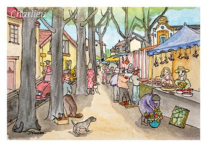 - Charlieu (Loire) market