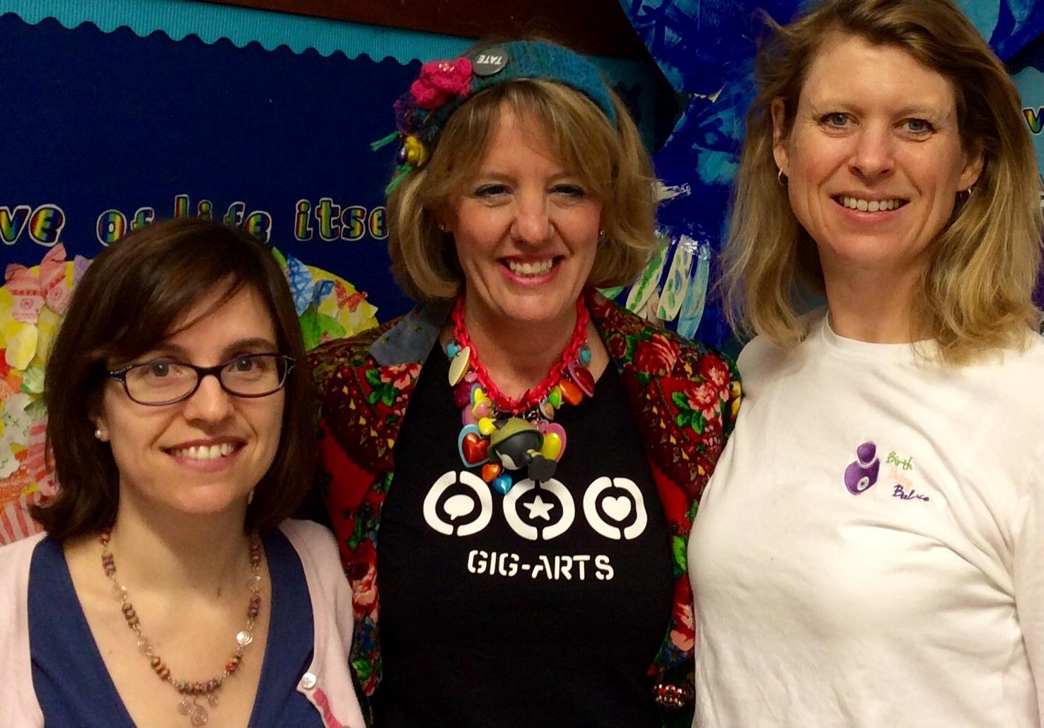 Speakers Rachel Cox, Abbie Cooke and Sarah Boyd