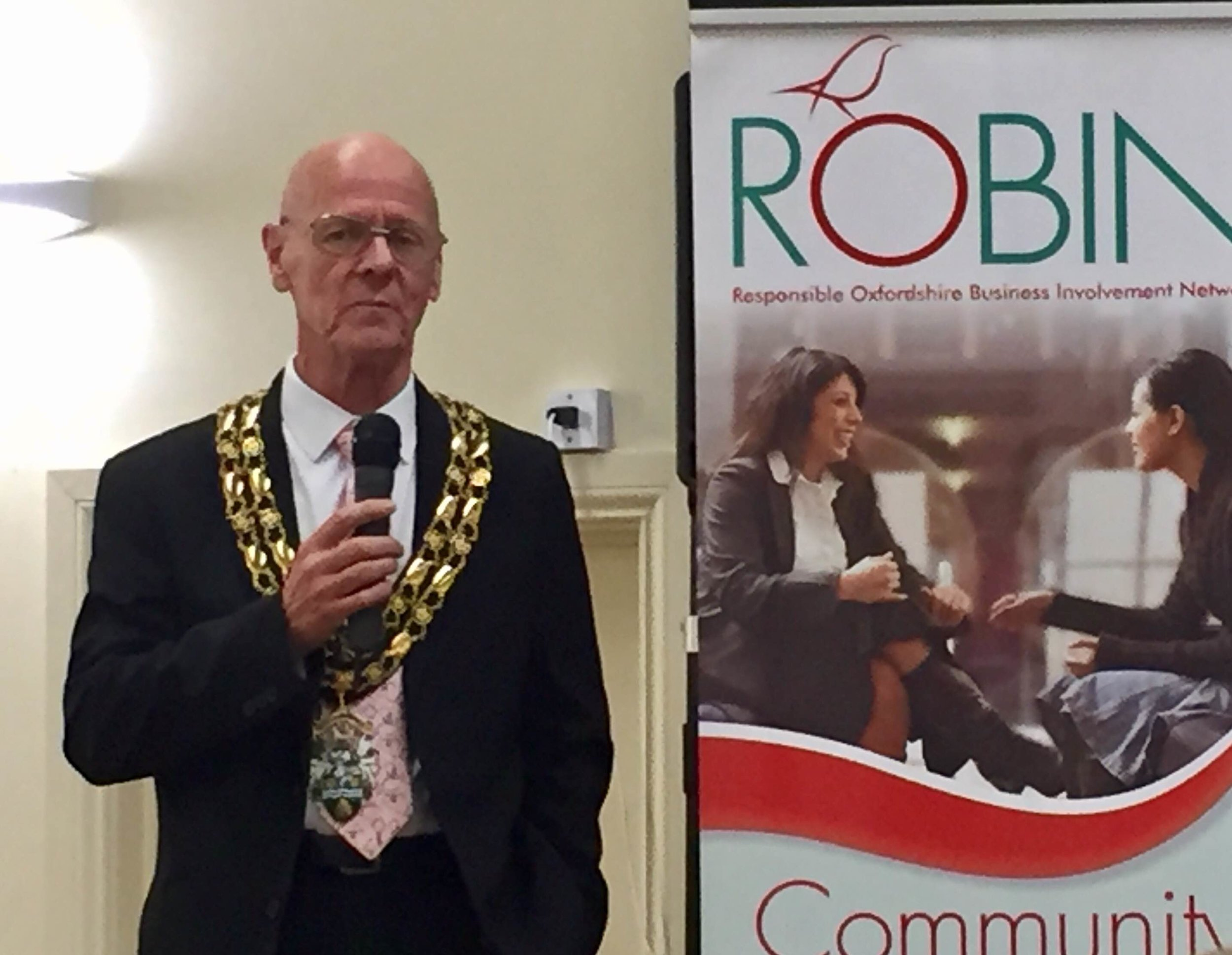 The Mayor of Witney opens the ROBIN event