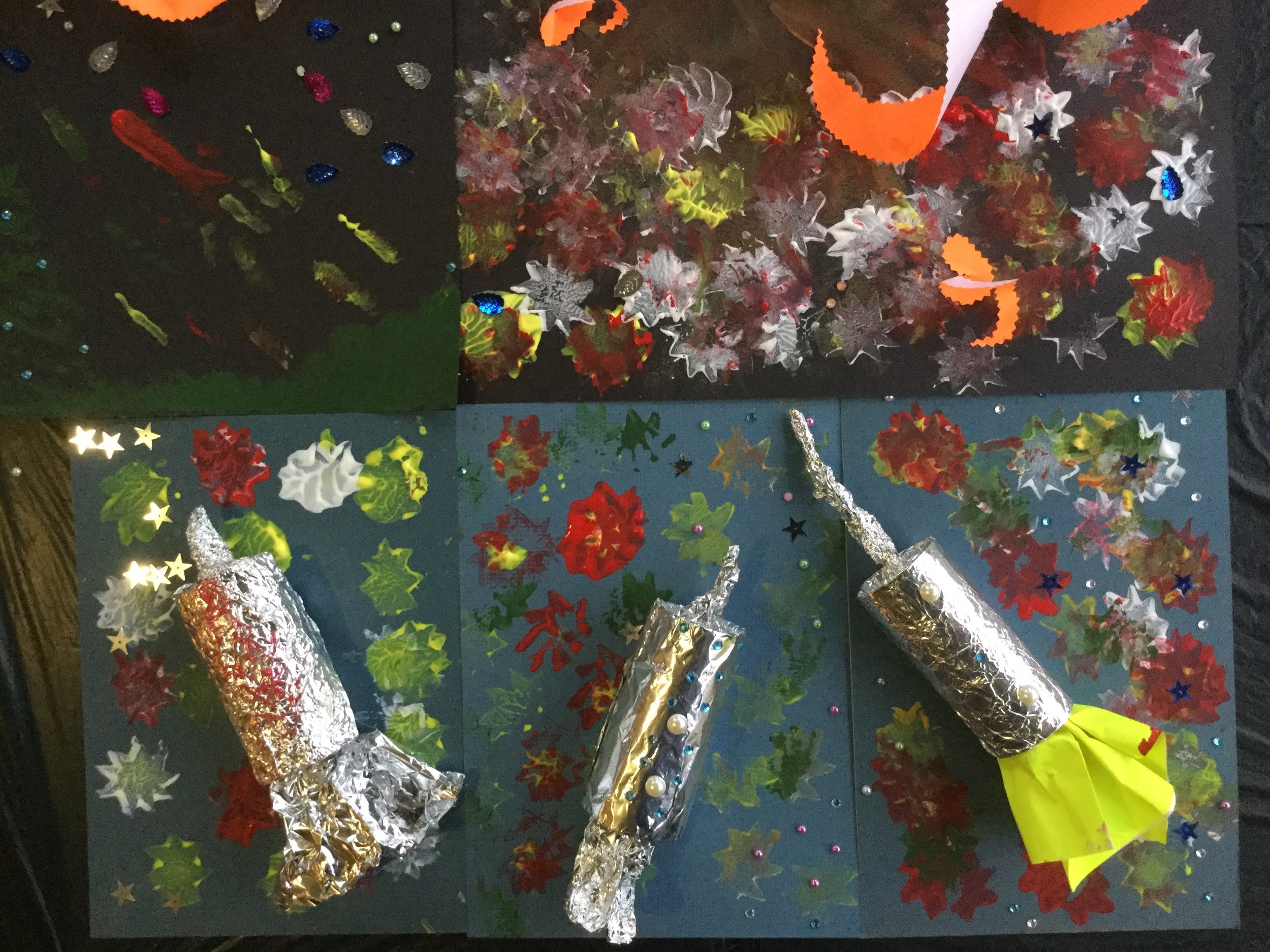 Our Fabulous Firework Collages in Care Homes