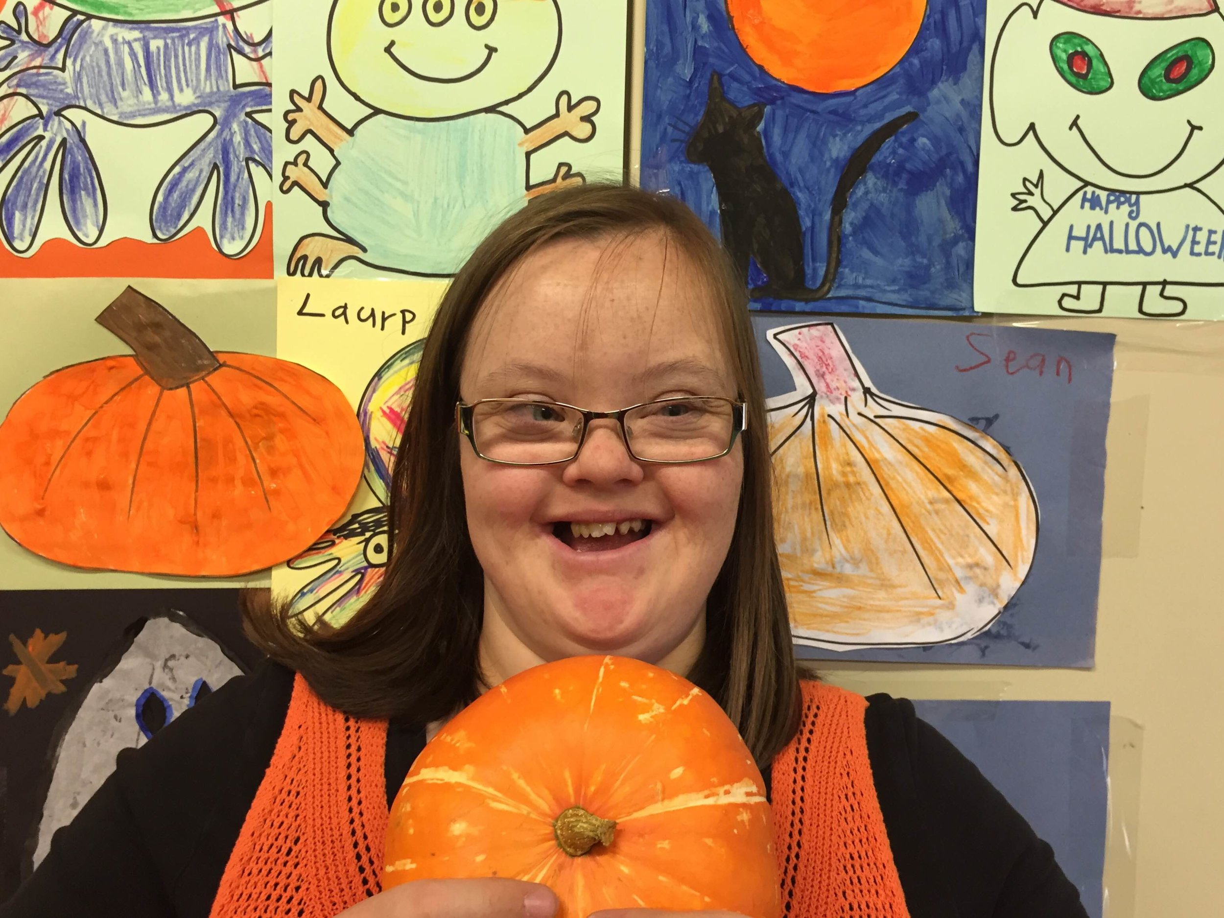 Arty Pumpkin Fun for our special friends at the ICE Centre