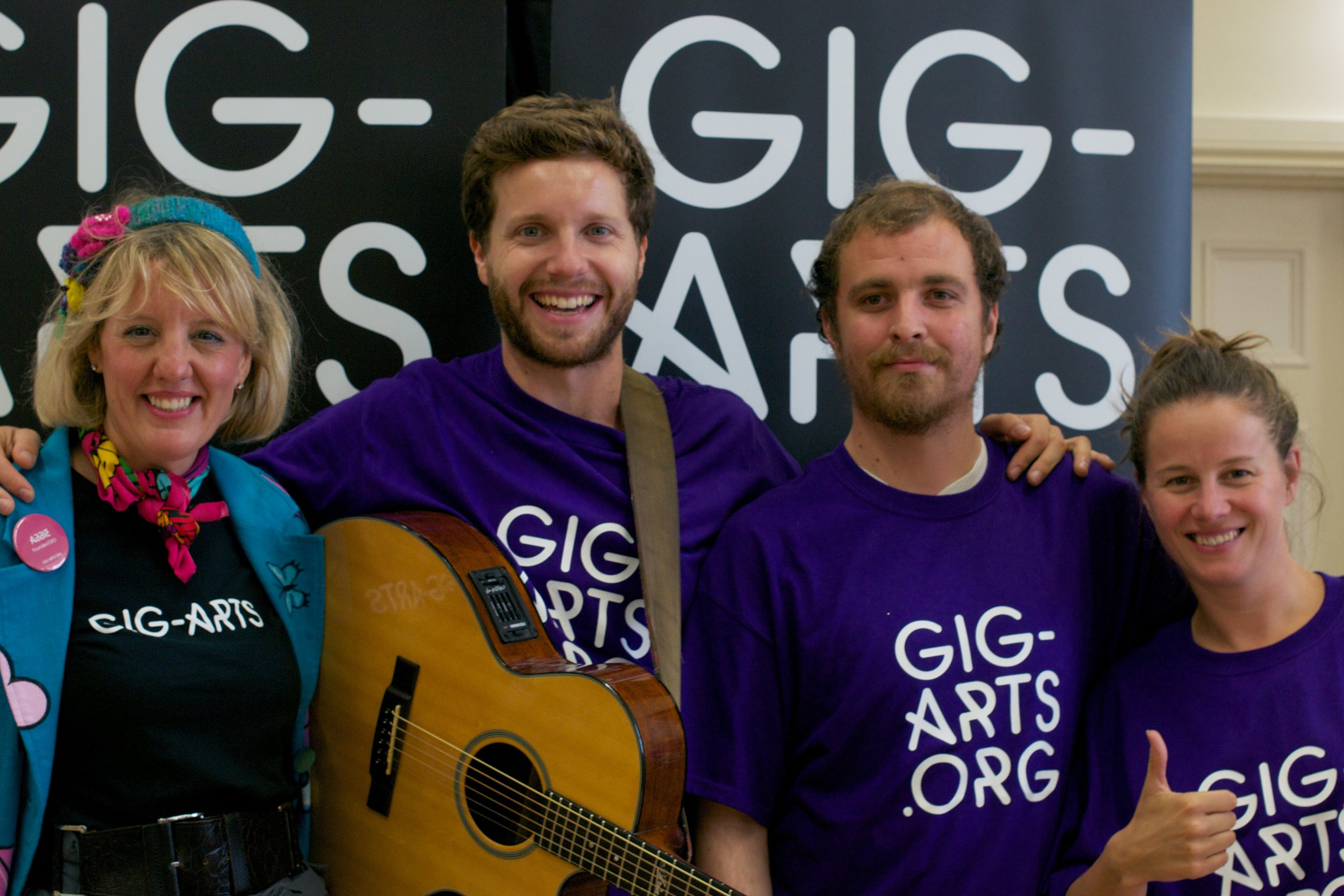 Meet the Gig-Arts Team - Abbie, Jem, Ryan and Grace.