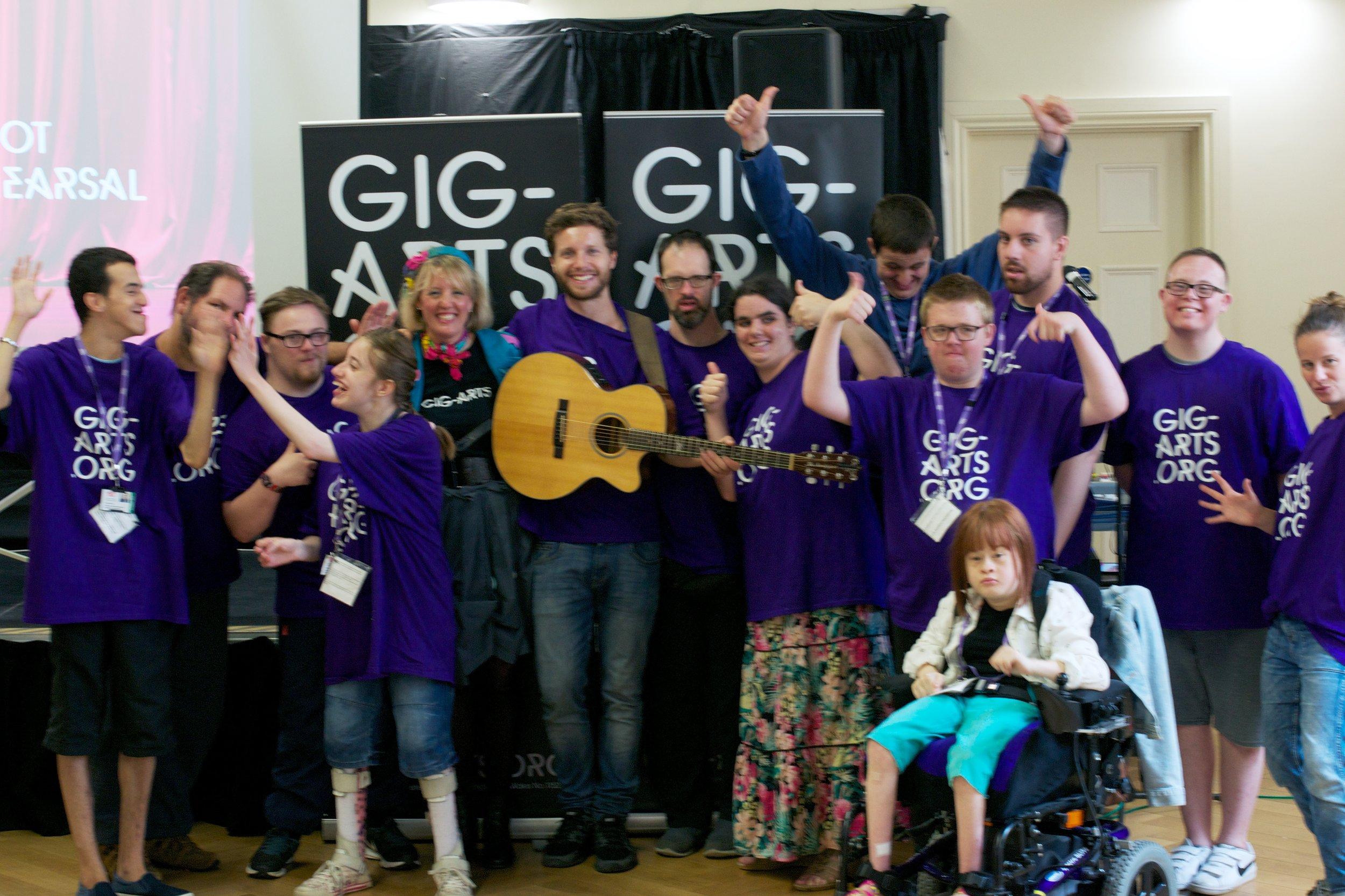Team spirit at Gig-Arts.