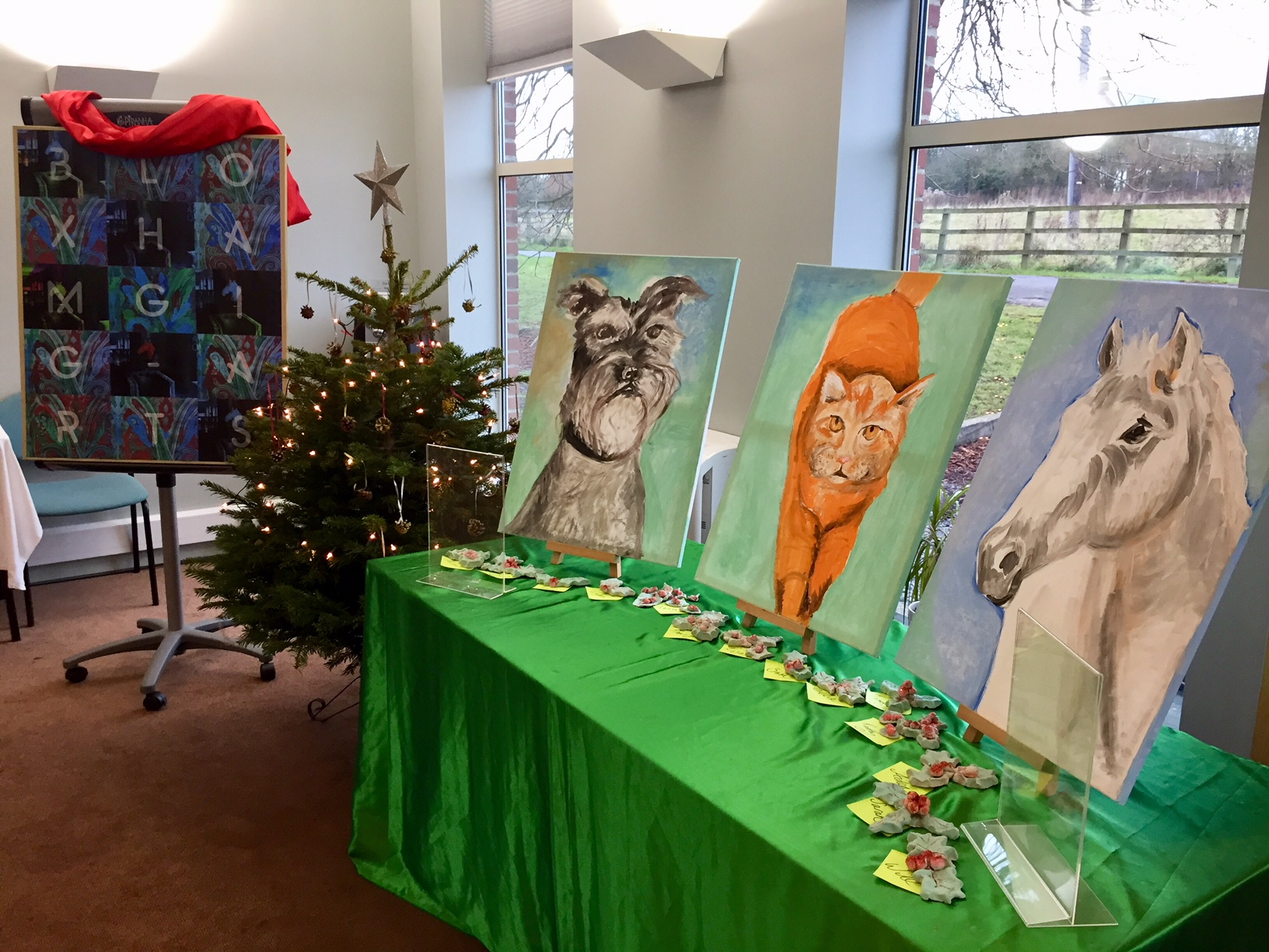 The Bloxham Gig-Arts exhibition of artworks will go in tour around Banbury in esrly 2018.