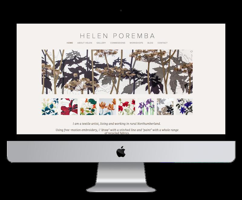 Squarespace web design for textile artist