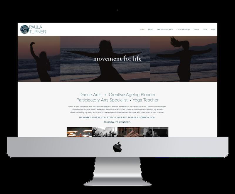 Squarespace web design for yoga teacher