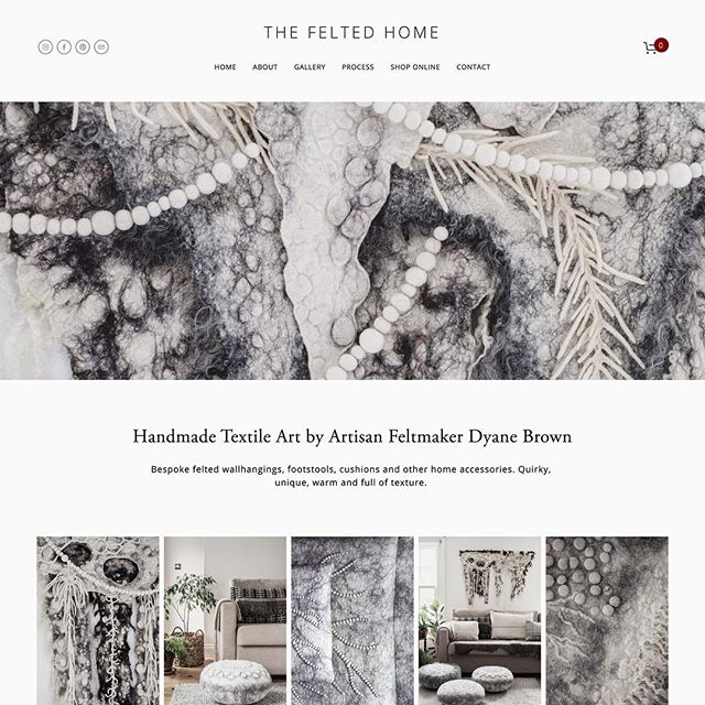 New website launch for @thefeltedhome including most of the photography. Makes my job easier when working with lovely work like this.