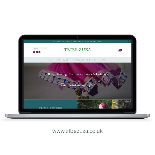 New site just launched for Tribe Zuza - belly dancing for all! @angelzuza #tribezuza