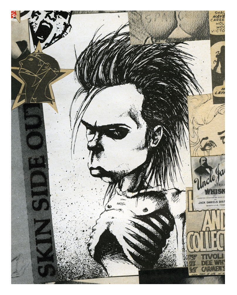Here's an old illustration of Nick from Zig Zag magazine 'circa 1984.