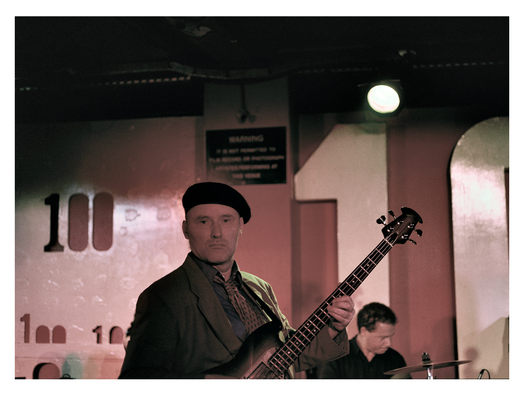 Jah Wobble & The English Roots Band performing at the 100 Club (30th anniversary of Punk)