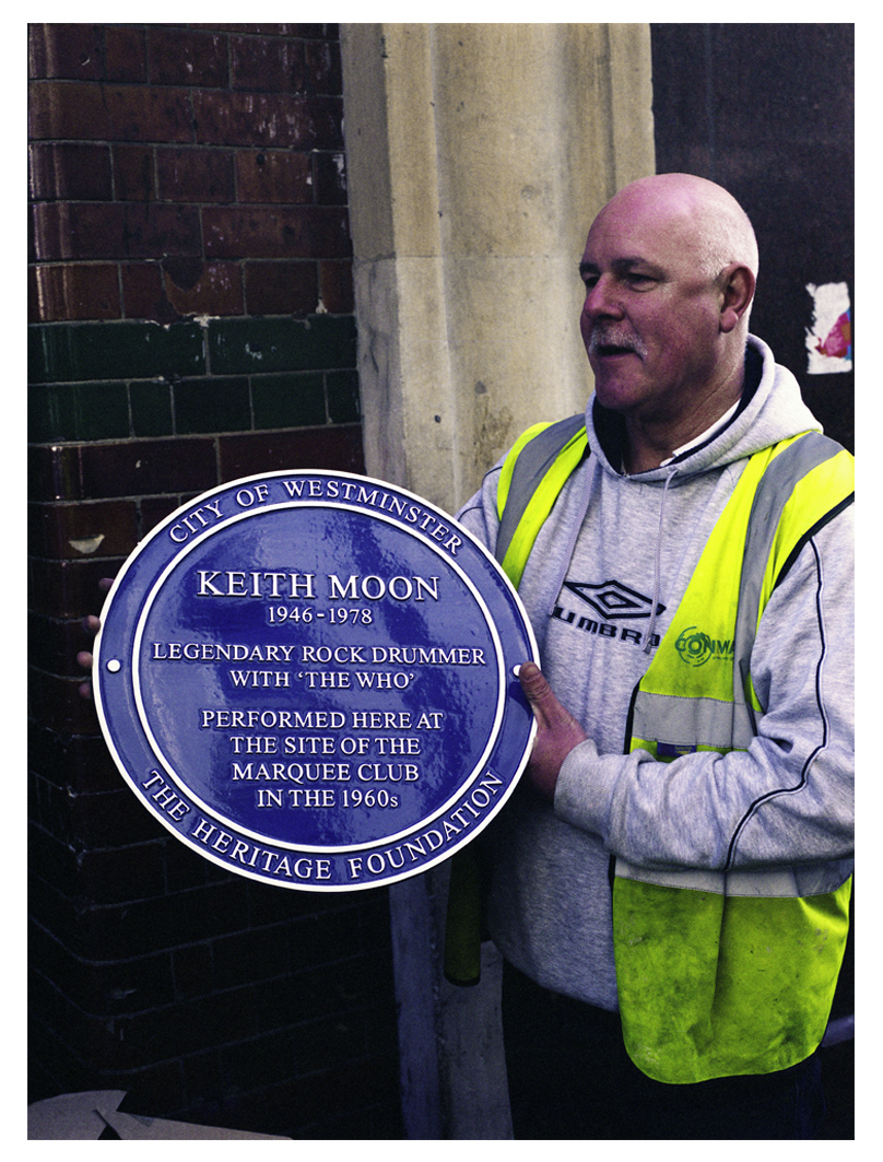 Keith Moon Plaque