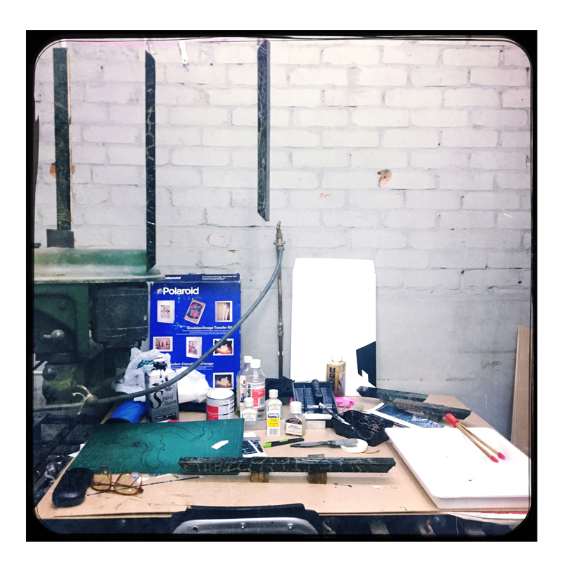 Work Bench for Image Transfers to the frames