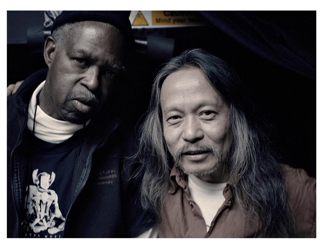 Malcolm Mooney with Damo Suzuki