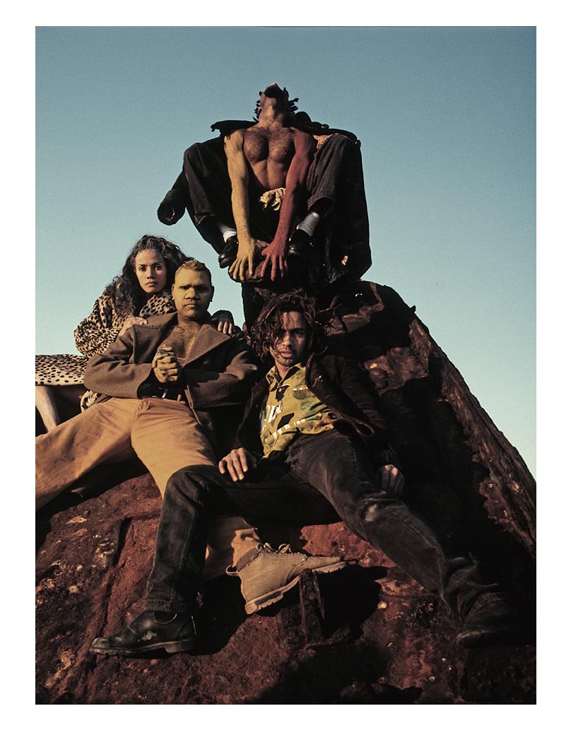 Bernadette Walong, Djkapurra Munyurran, Albert David and Russell Page - La Perouse 1995