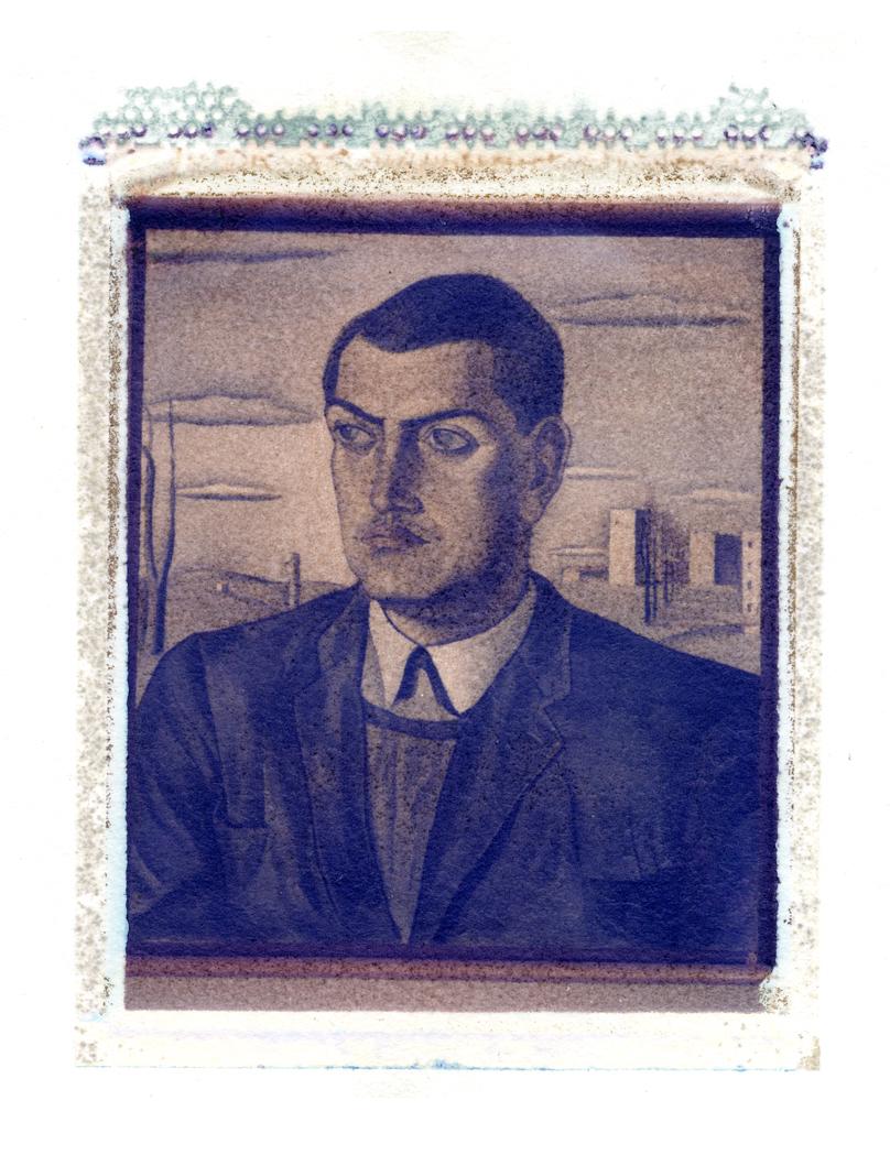 Portrait of Luis Bunuel by Salvador Dali (Polaroid Transfer)