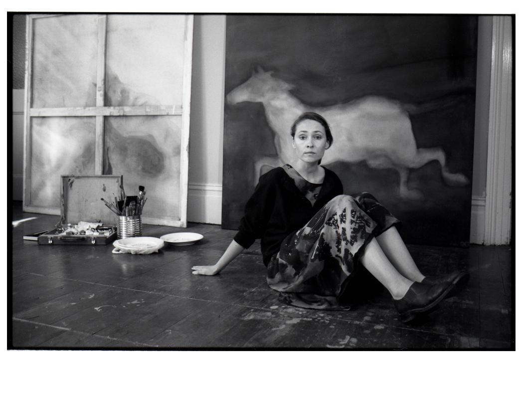 Piki Verschuren in her studio 1991