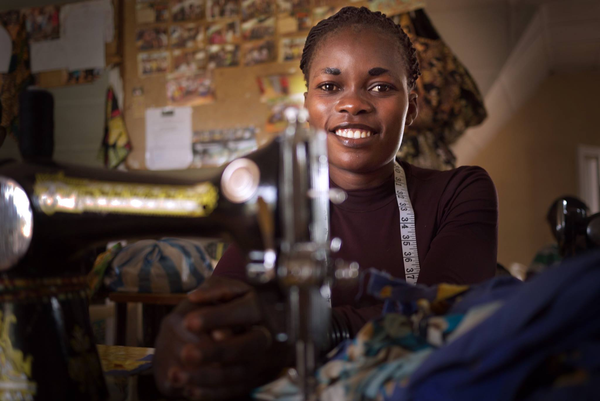 If we want a sustainable society, women need to be empowered. That's why our partner ABFEK is running a program to give vocational skills to women. Mumusho, South Kivu