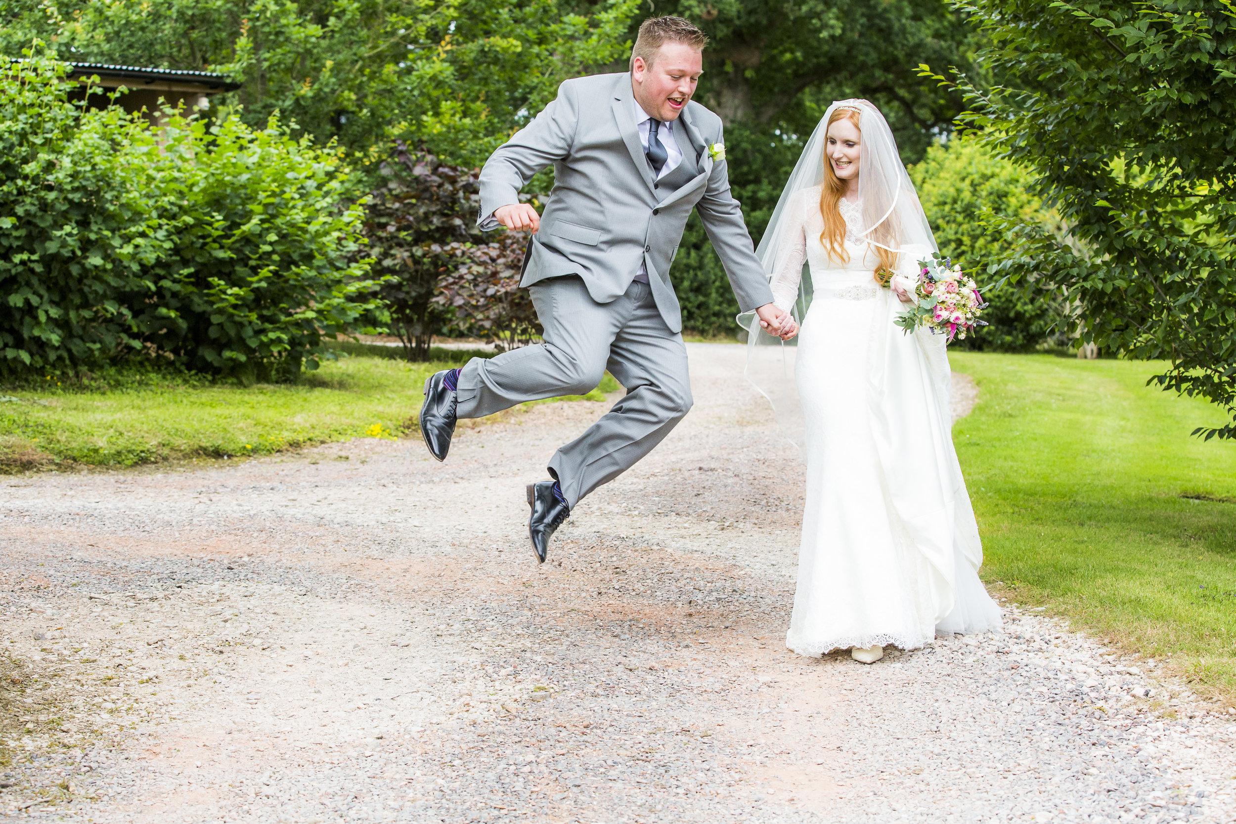 Fun Wedding Photos Devon