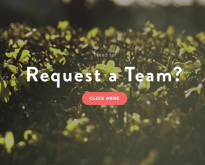 Request a Team  Need a team to come and help out where you live in Eltham?   Get in touch here   →