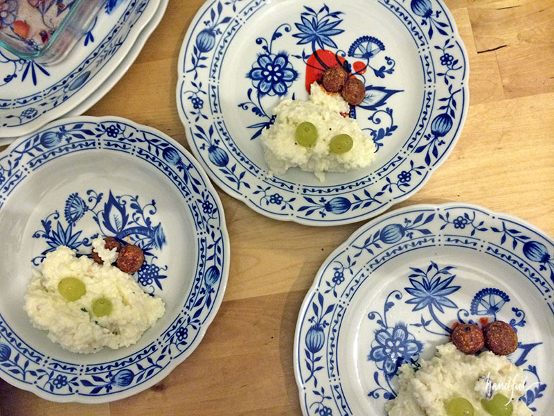 The Curd Bath with gooseberry pickles.