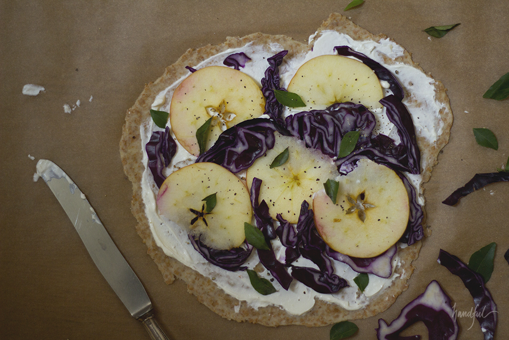 Handful | Apple Purple Cabbage Flammkuchen
