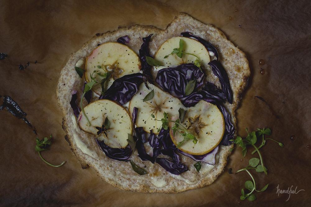 Handful | Purple Cabbage Apple Flammkuchen