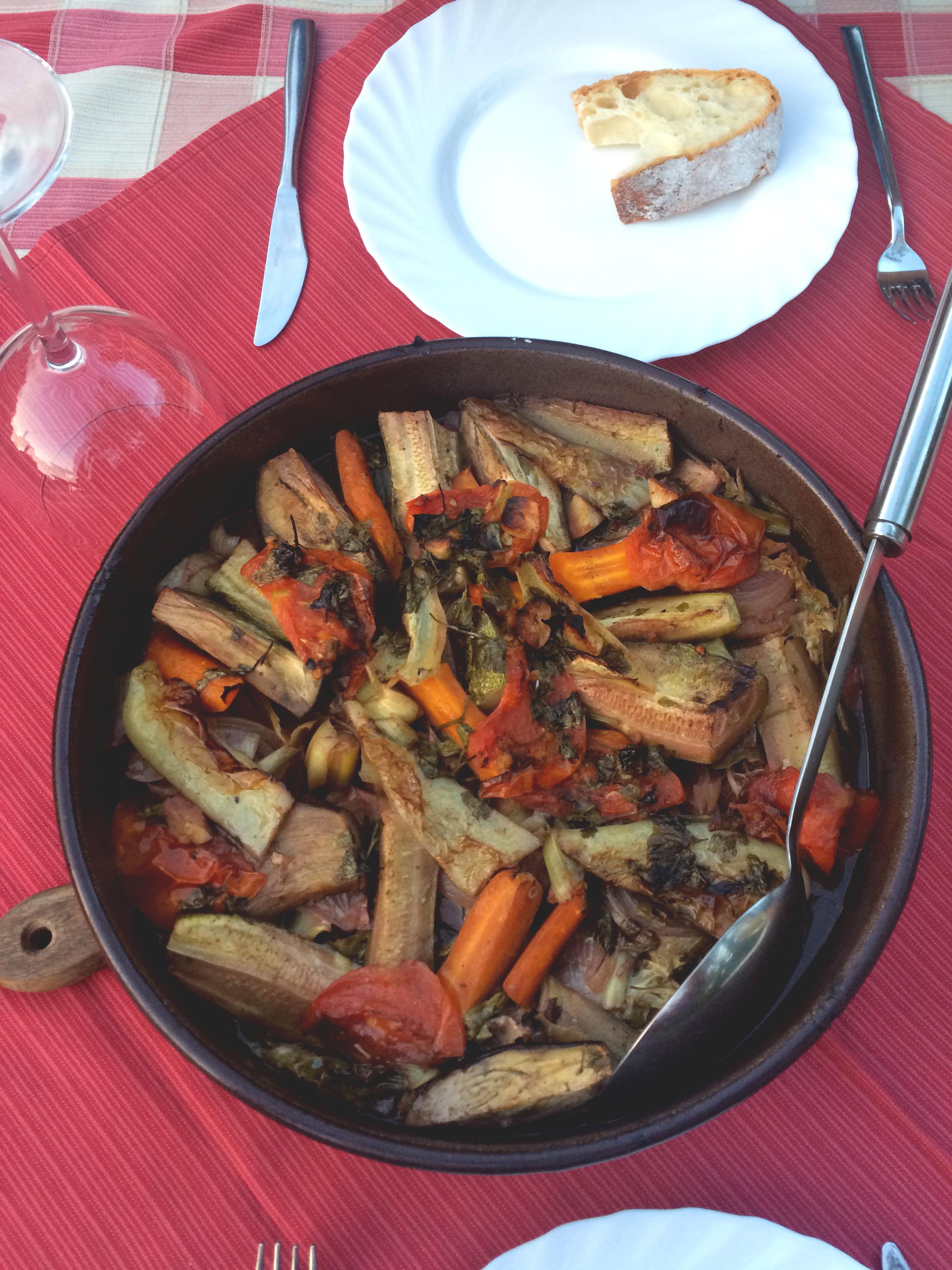 Our vegetarian Peka