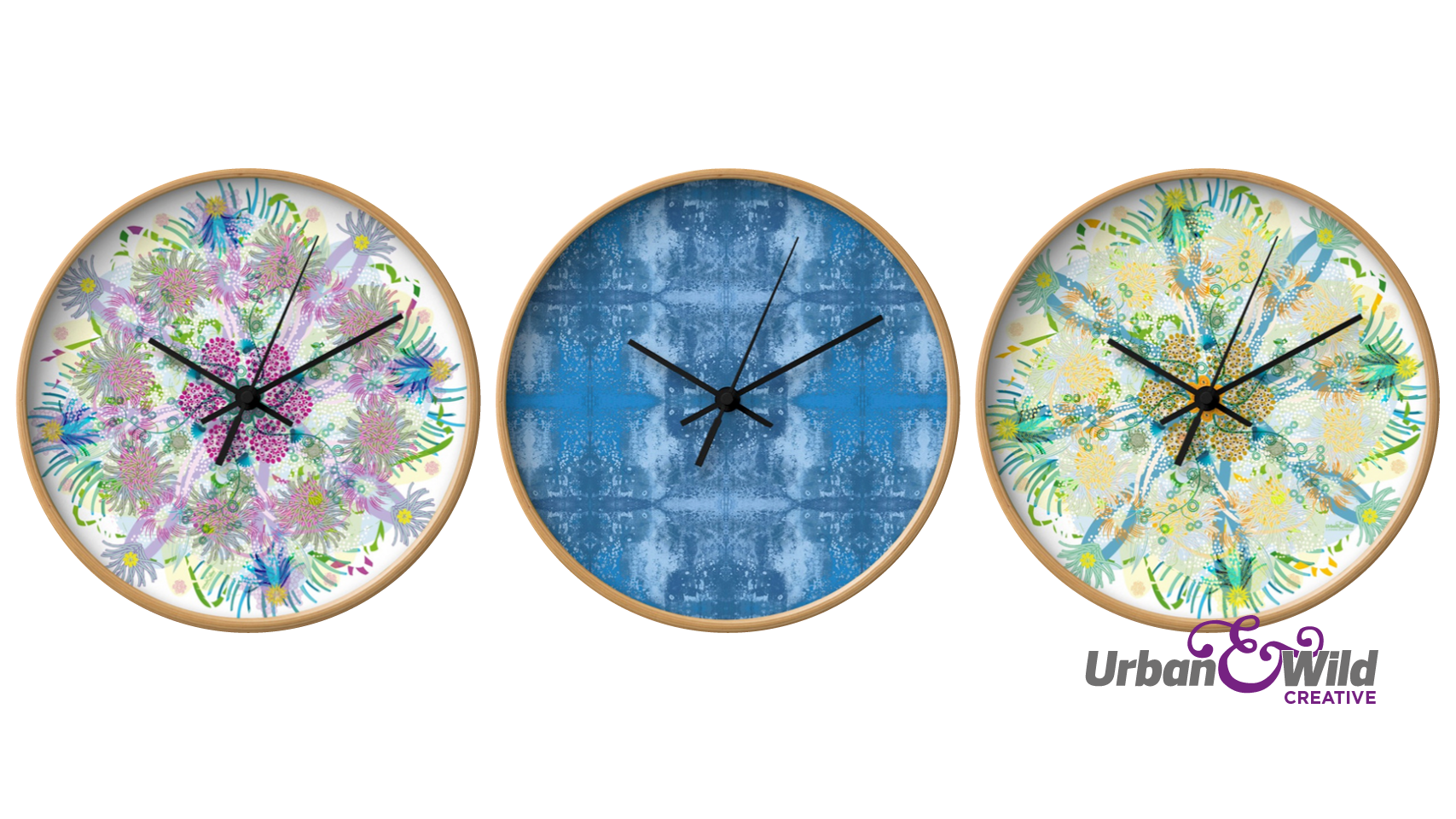 Urban & Wild Creative's, Society 6 store — CLOCKS