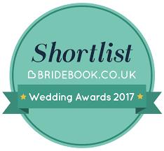We've been nominated for the bridebook wedding awards 2017!