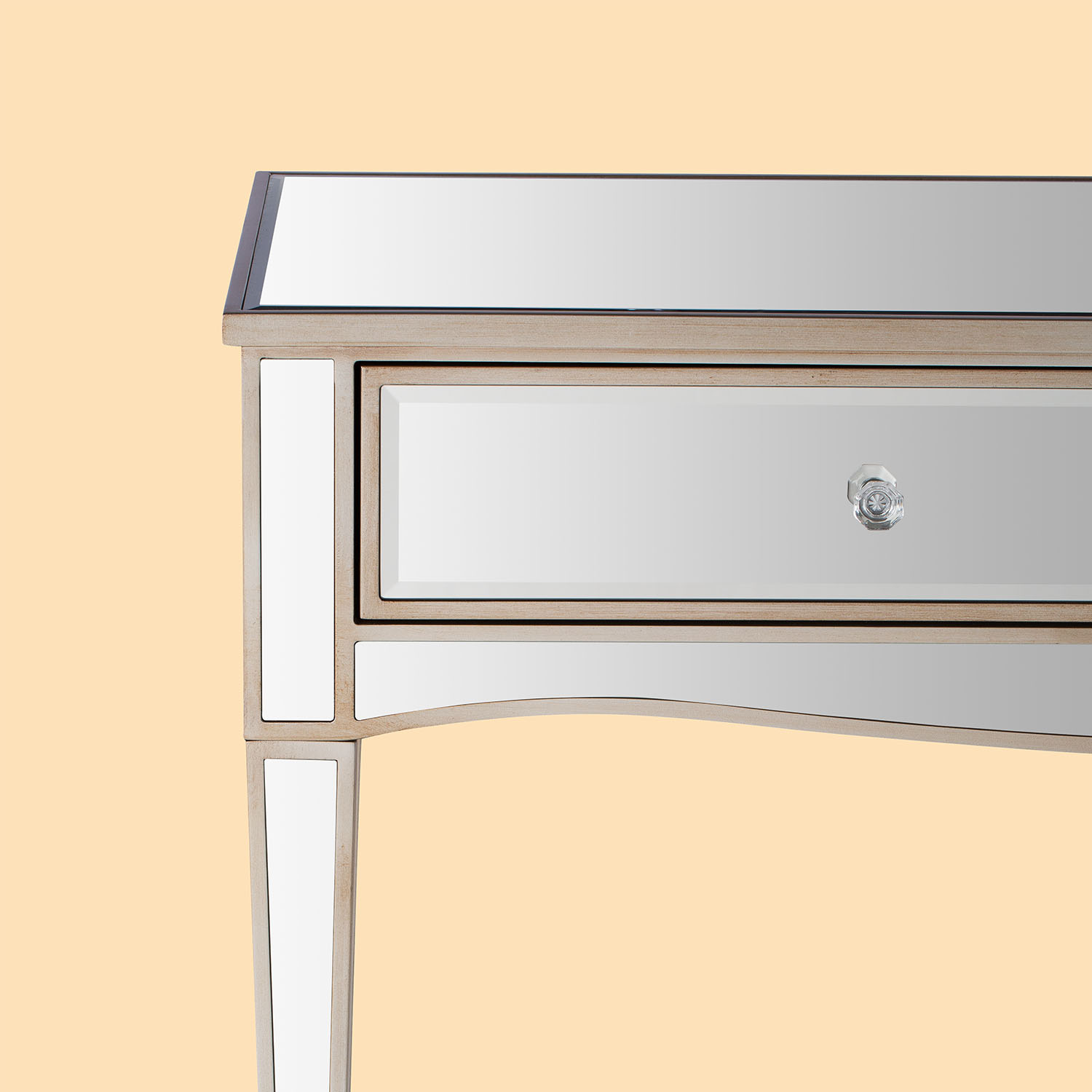 Mirrored table mirror stool furniture product