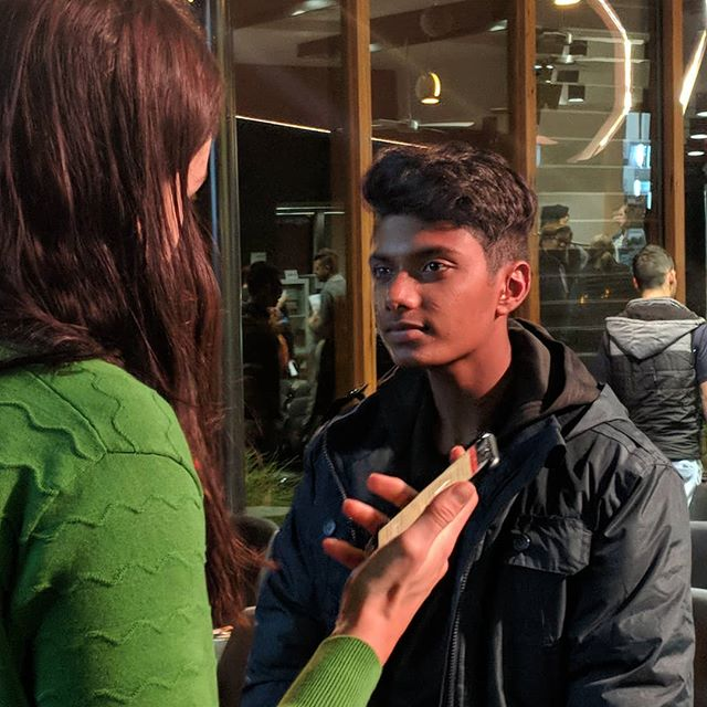 One of our Stories for Change participants speaking with the media at the launch in Mildura - check out our website to watch 'Sometimes we just need you to listen' for yourself! www.threeforallfoundation.org #threeforallfoundation #storiesforchange  #inspirationalyouth #strongyouth #storytelling