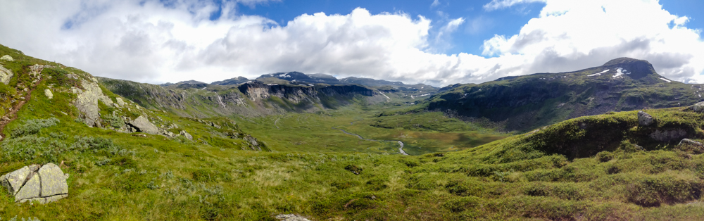 High river valley above Skydje Fossen