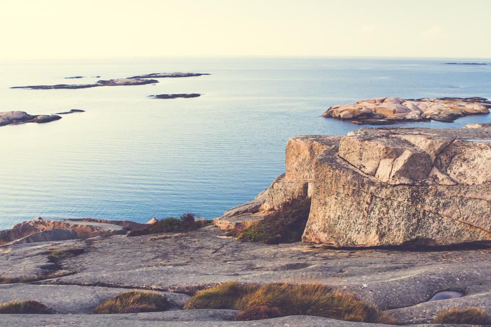 Excellent virgin bouldering rock by calm sea. Climbing heaven.