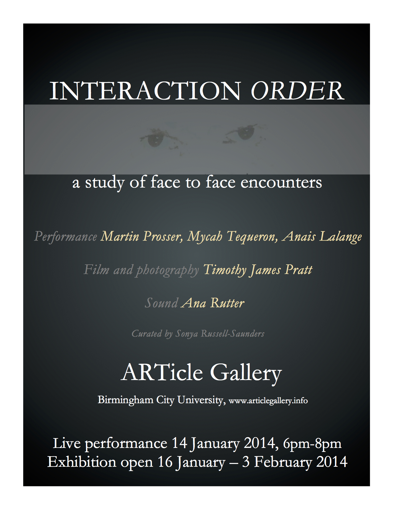 'Interaction Order'  January 2014