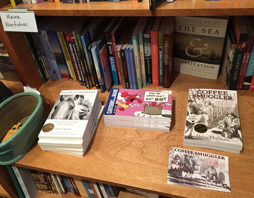 Coffee Smuggler in the Maine author section of Royal River Books.