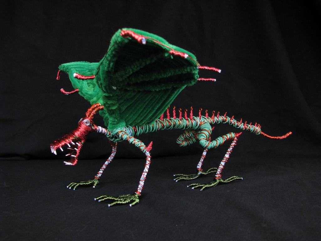 green dragon on black 3.JPG