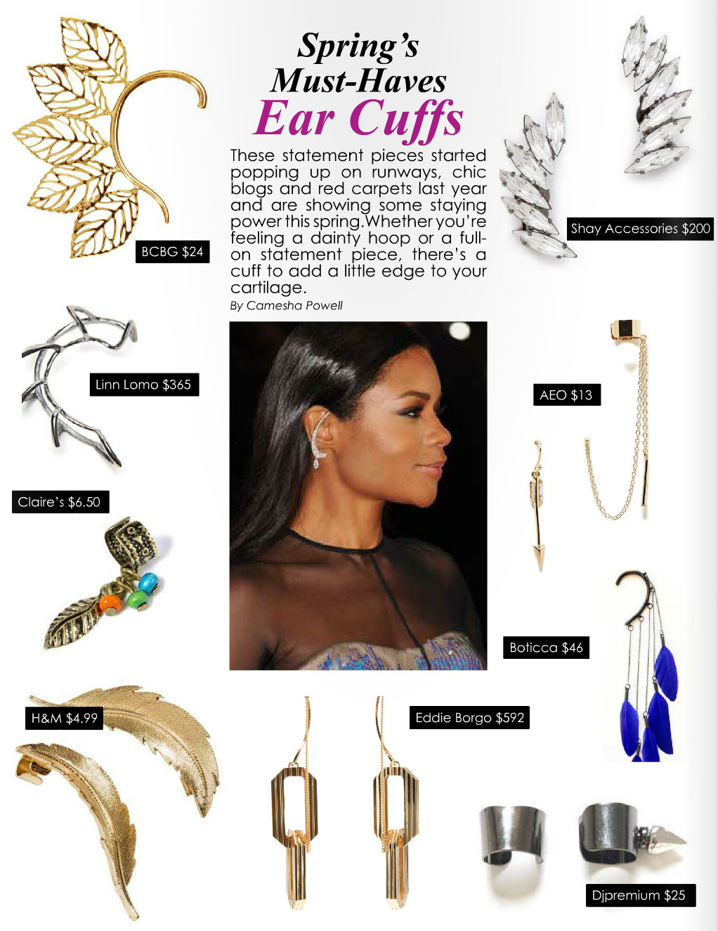 Trend Report: Bucket Bag & Ear Cuffs (pages 36-37)     Read article...