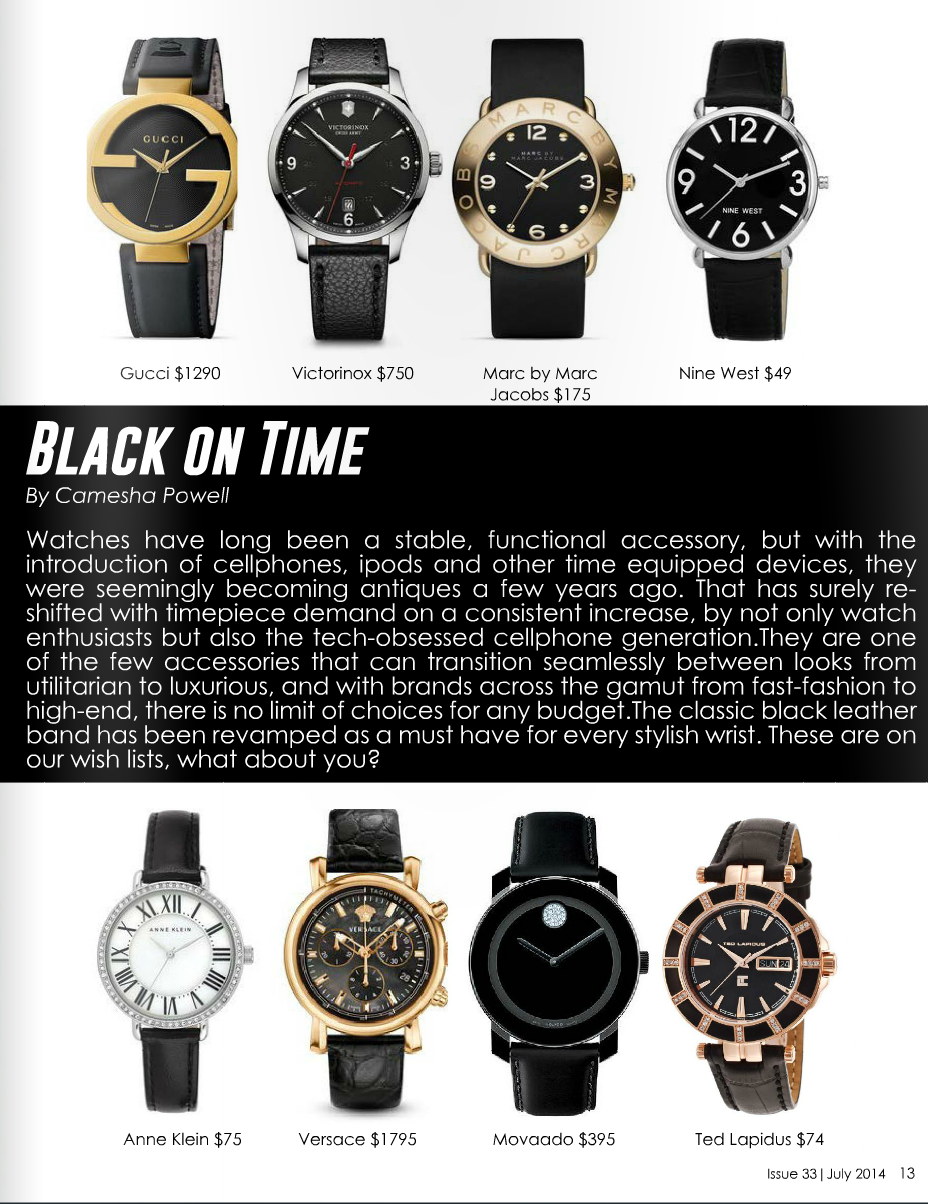 Trend Report: Black on Time     Read article...