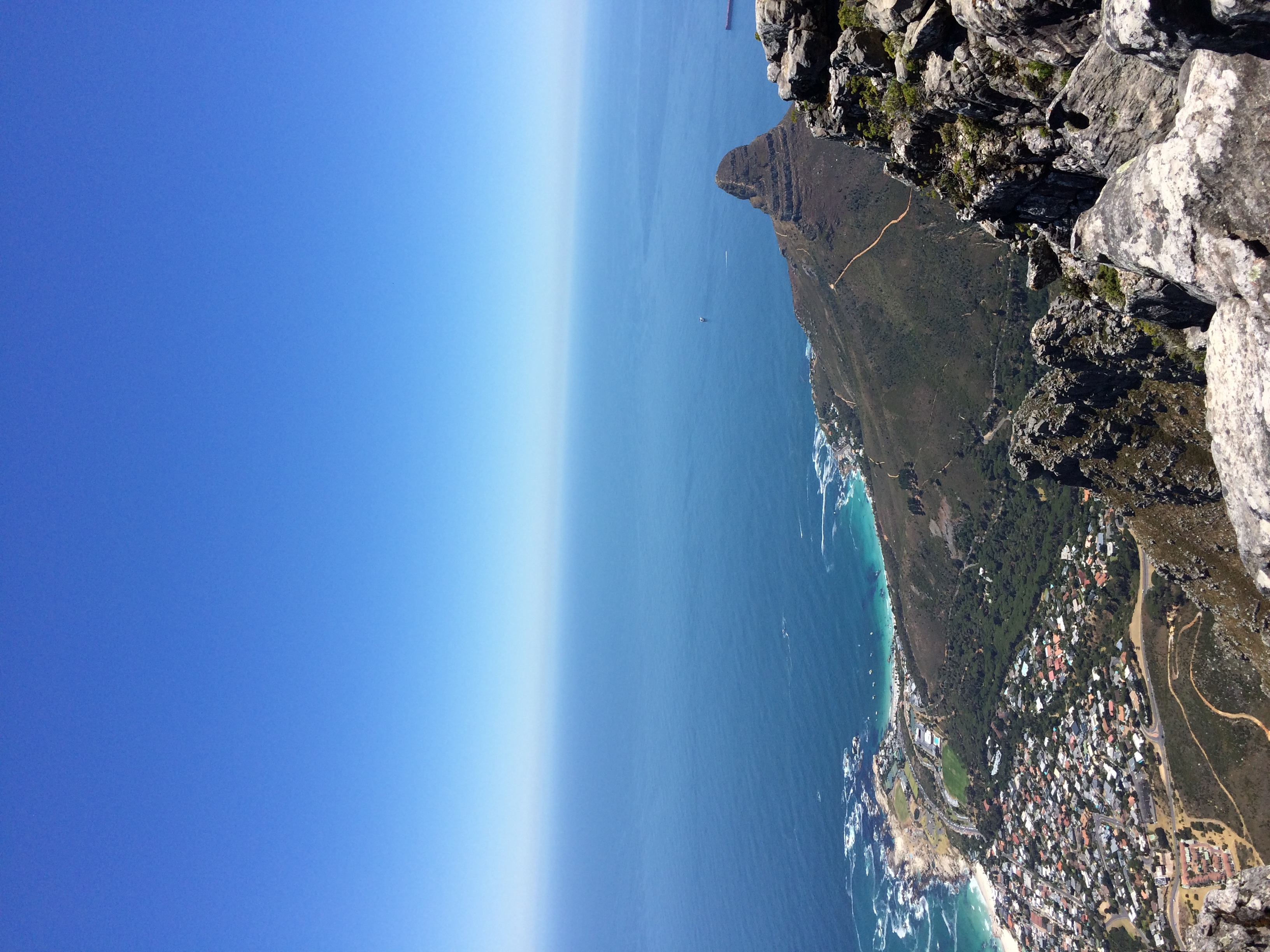 View of Lion's Head from Table Mountain - The 12 Apostles