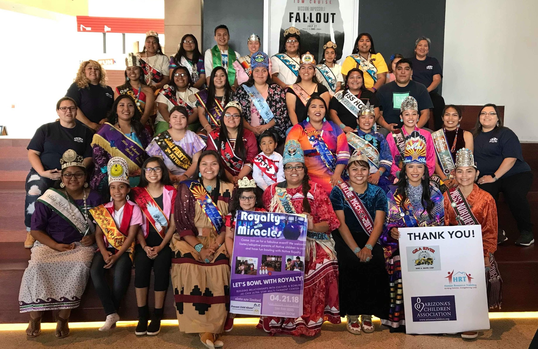 Group photo of all Royalty that attended 4/21/18 -