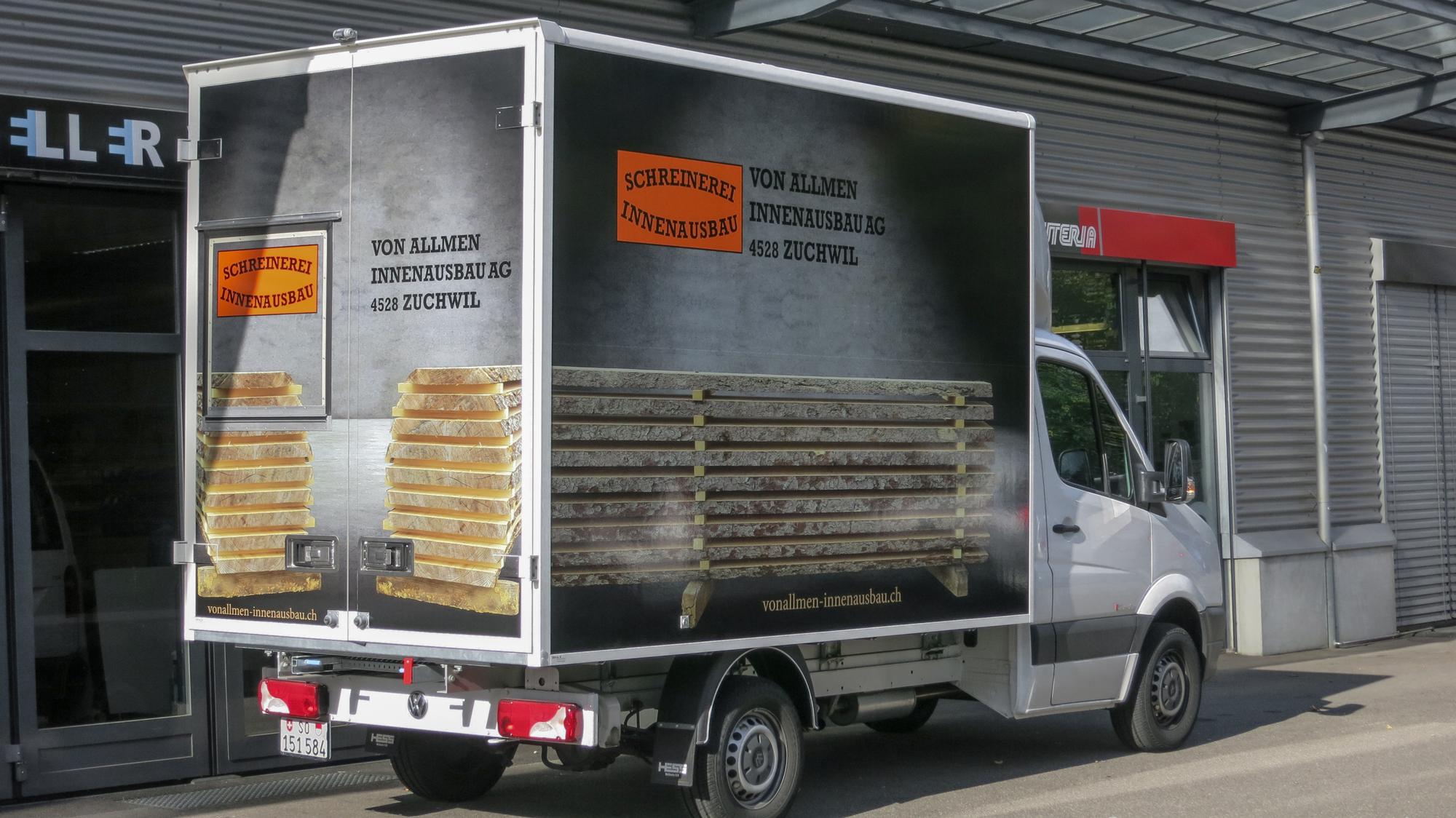 Vollverklebung LKW-Aufbau