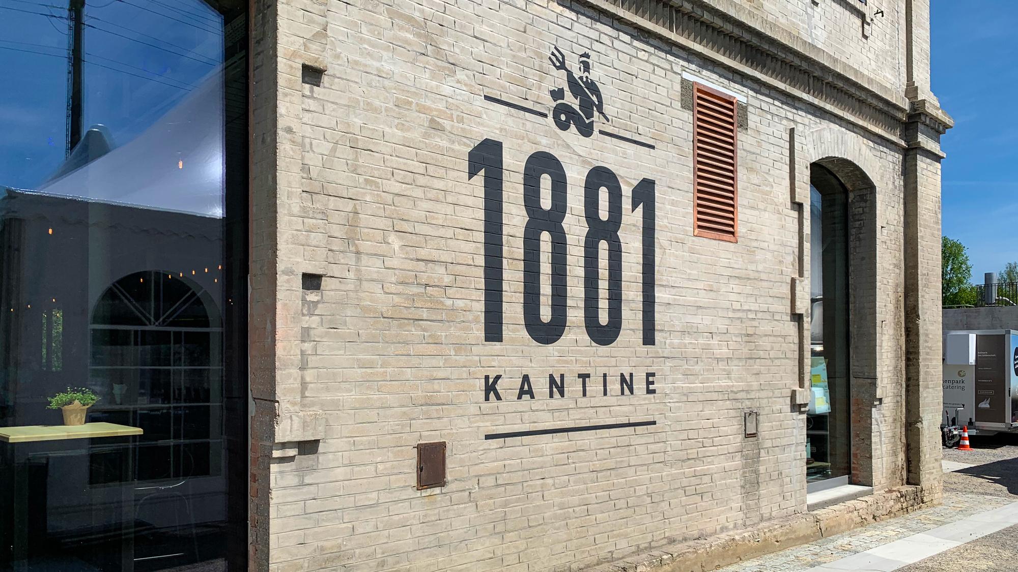 Scheller Beschriftungen für die   Eröffnung «Kantine 1881»