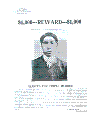 Wanted Poster for FUGITIVE Harry Yamaguchi
