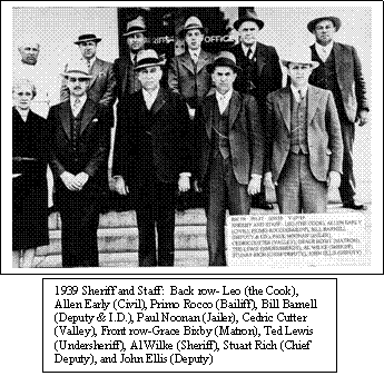 Sonoma County Sheriff and Staff, Circa 1939