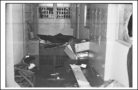 Destruction from SCSO Jail Riot, 1972