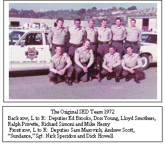 Special Enforcement Detail Team members, 1972