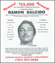 Wanted Poster, Ramon Salcido, 1989