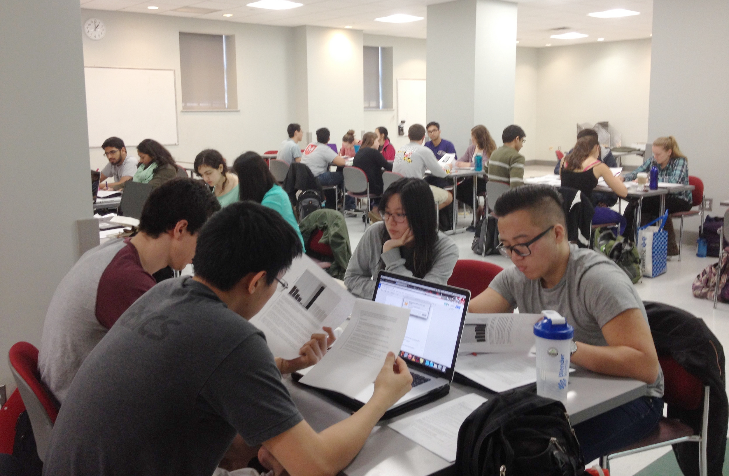 Students studying together.