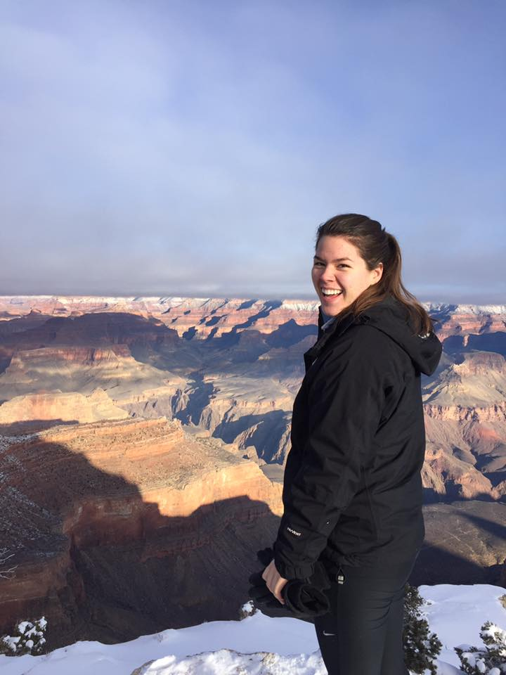 Picture of Sonya Williams in front of the Grand Canyon.